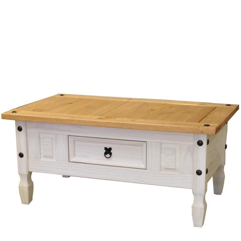 Konferenčný stolík CORONA biely vosk 163910B