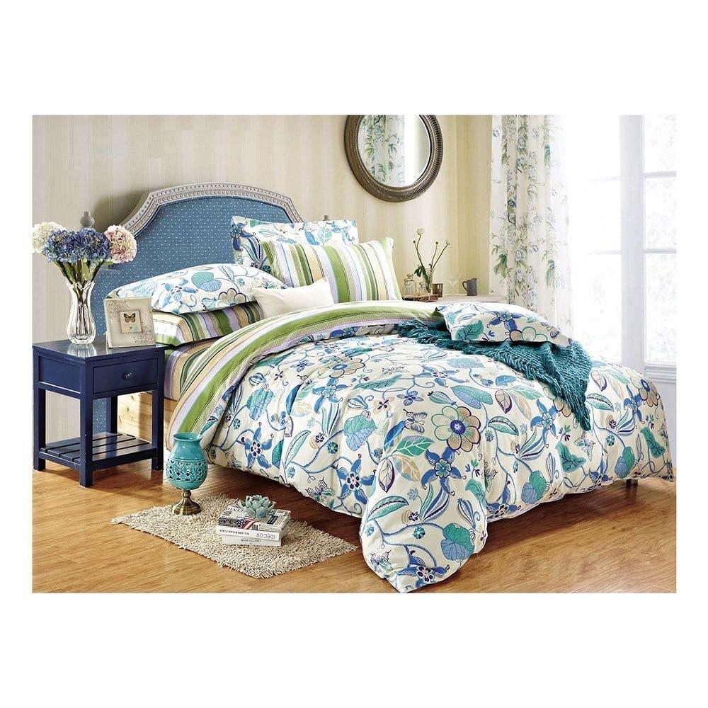 Bavlnené obliečky DecoKing Floral, 135x200cm