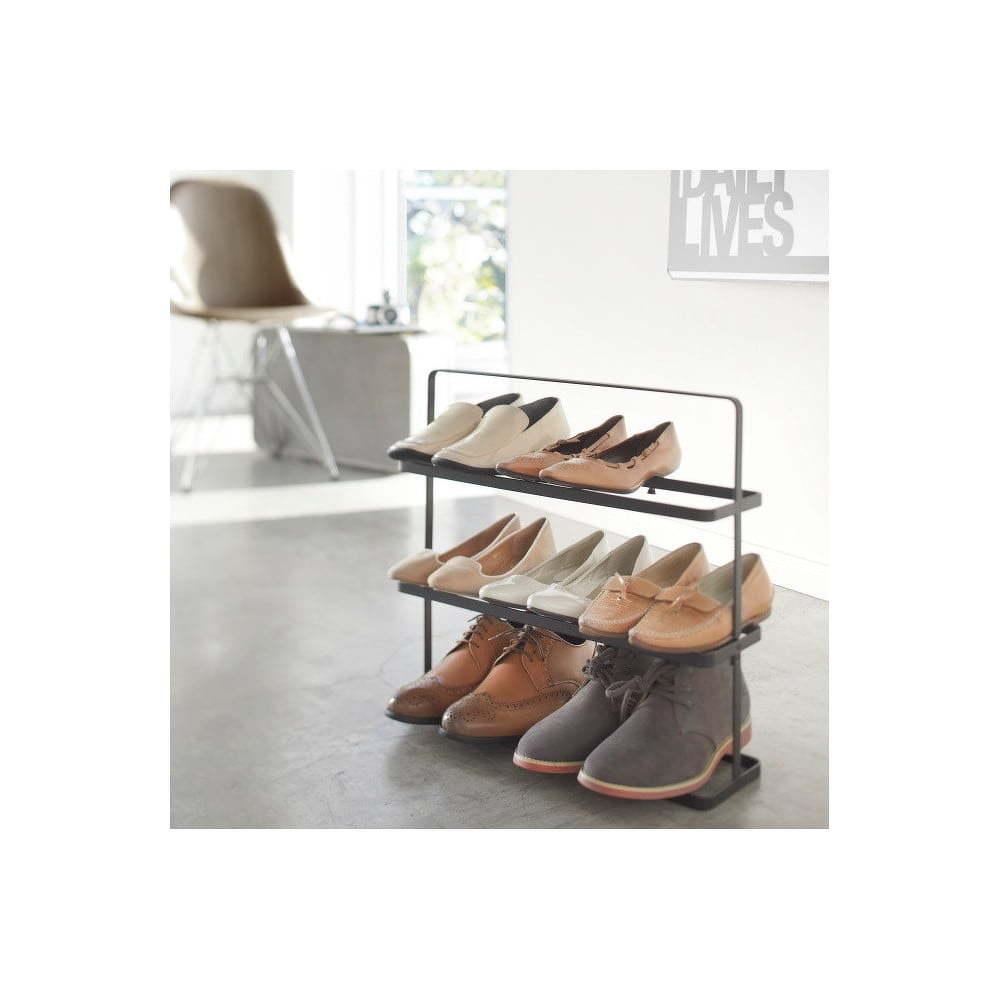Biely vysoký stojan na topánky Yamazaki Tower Shoe Rack