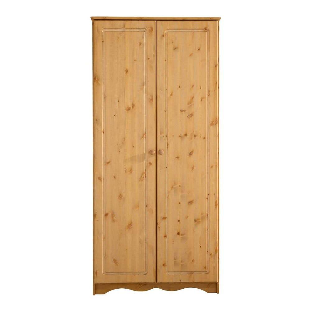 Dvojdverová šatníková skriňa z masívneho borovicového dreva Støraa Amanda