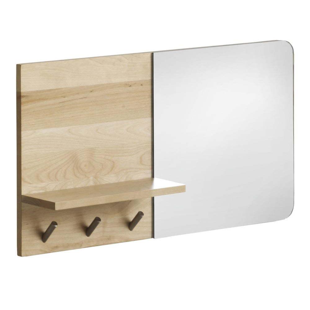 Nástenné zrkadlo s poličkou z brezového dreva Geese Stockholm