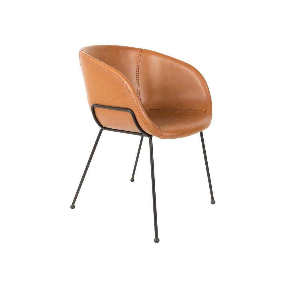 Sada 2 hnedých stoličiek Zuiver Feston