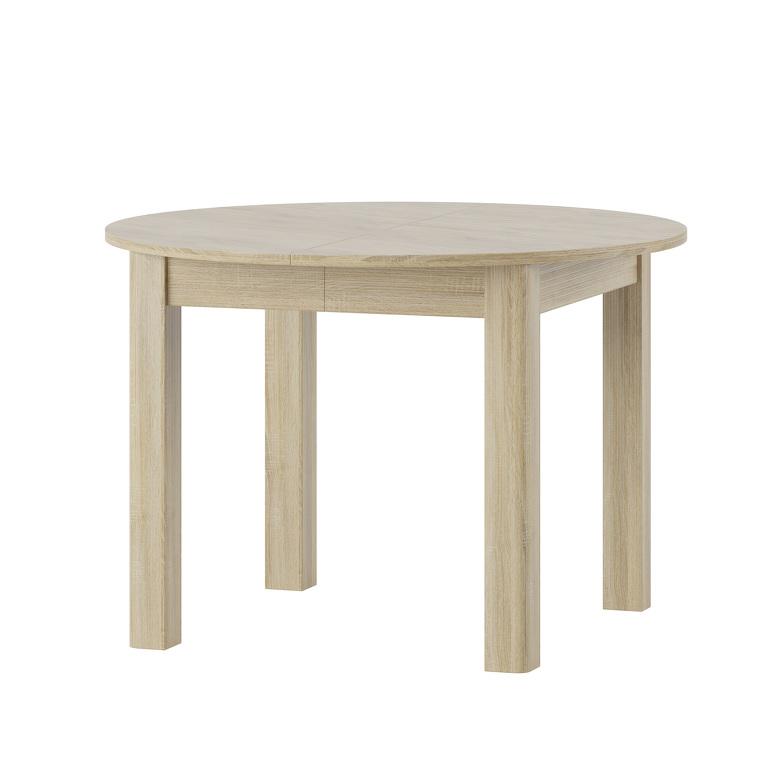 URAN 1 okrúhly jedálenský stôl s rozkladom, dub sonoma