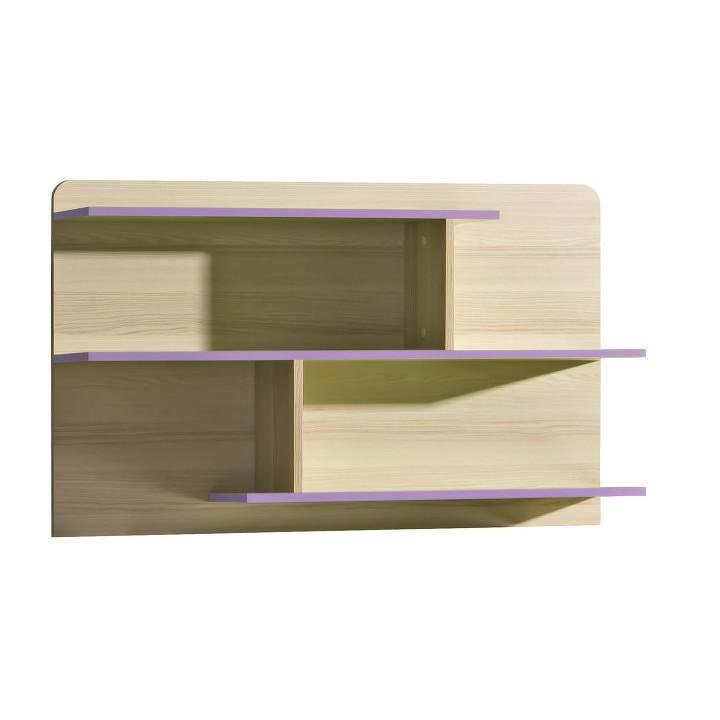 Polica, kombinovaná, jaseň/fialová, EGO L8