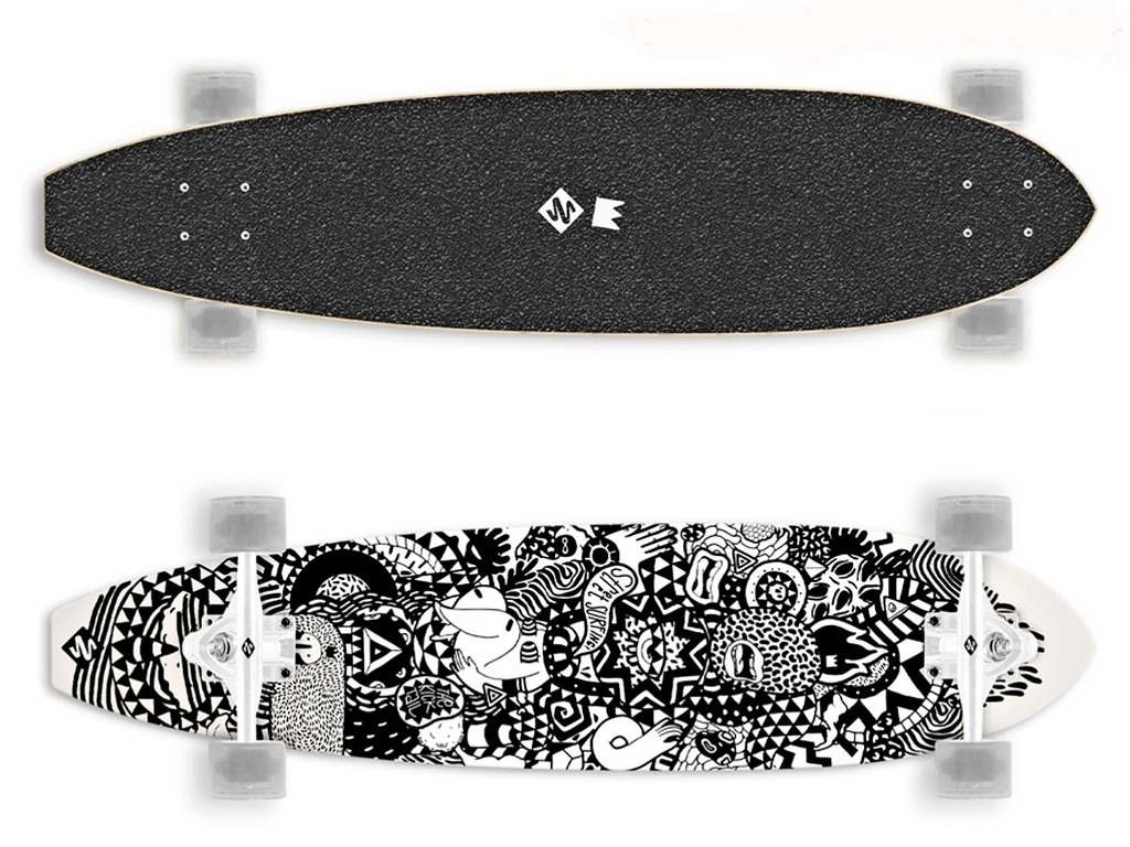Longboard STREET SURFING Kicktail 36 Rumble Jungle