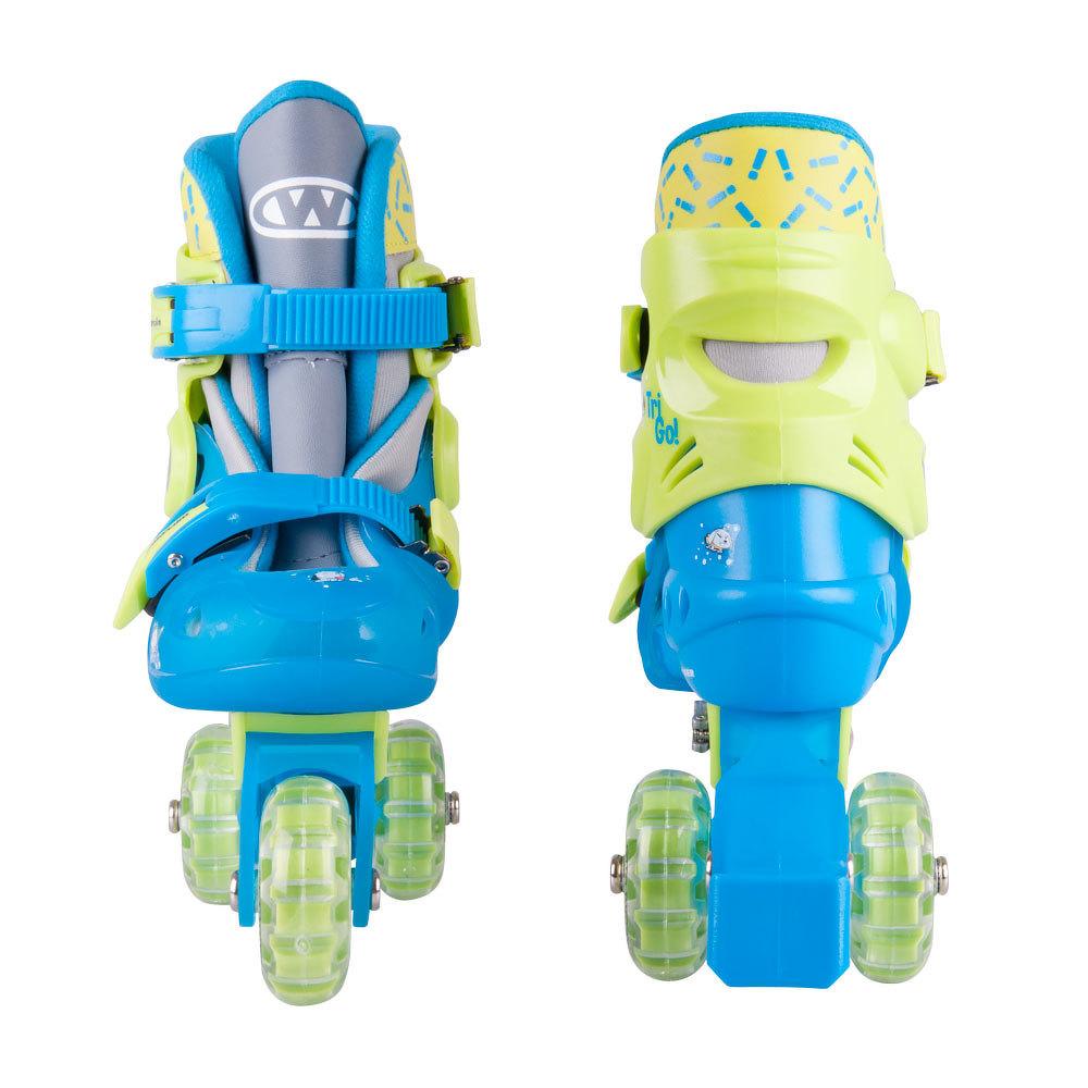 93114b43e Detské kolieskové korčule WORKER TriGo Skate LED - so sv. kolieskami ...
