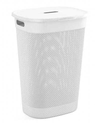 AB LINE 21065KS5 Kôš na špinavé prádlo Filo biely, 44x33xh60cm, 55l