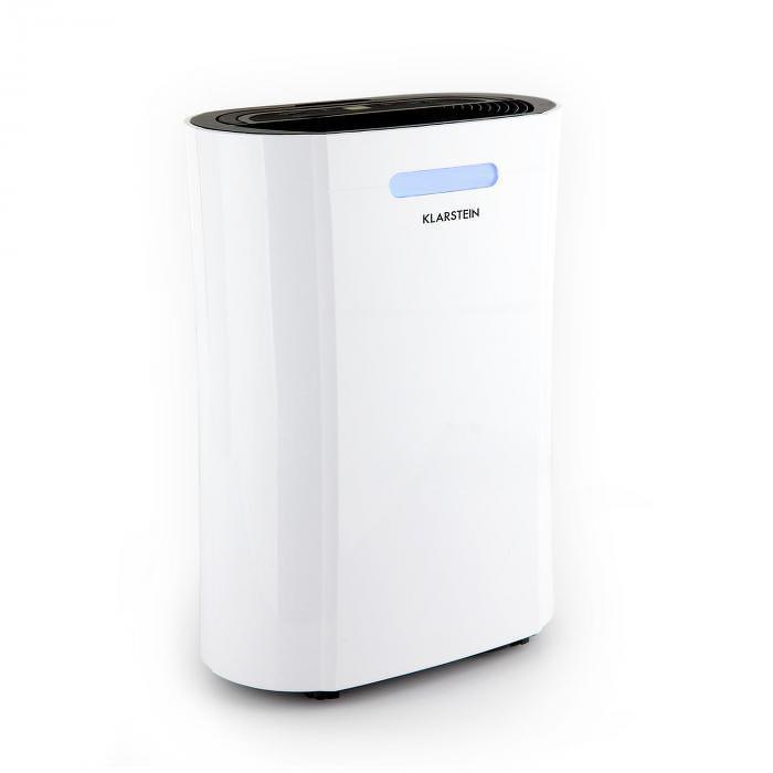 Klarstein AeroDry 10, odvlhčovač vzduchu, 265 W, 10 l/d, 135 m³/h, 25 m², DrySelect, 37 dB, biely