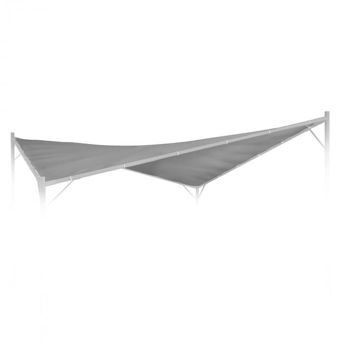 Blumfeldt Sombra, pergola, náhradná strecha, 180 g/cm², polyester, príslušenstvo, sivá