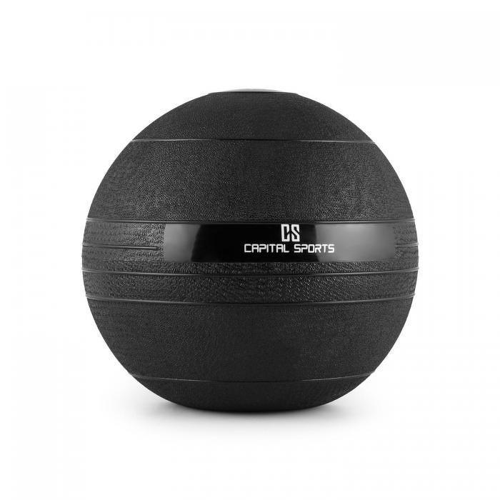 Capital Sports Groundcracker, čierny, 10 kg, slamball, guma