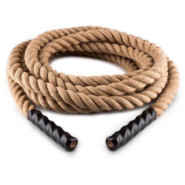Capital Sports Power Rope, 9m/3,8cm, kyvadlové lano, konope
