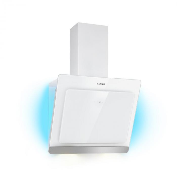Klarstein Aurora Eco 60, digestor, 550 m³/h, LED displej, biely