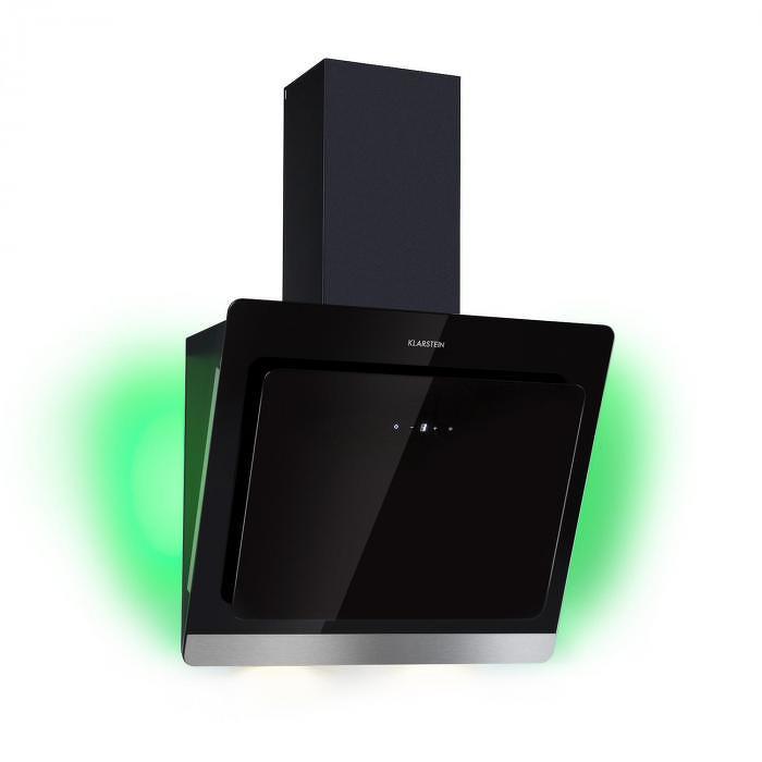 Klarstein Aurora Eco 60, digestor, 550 m³/h, LED displej, čierny