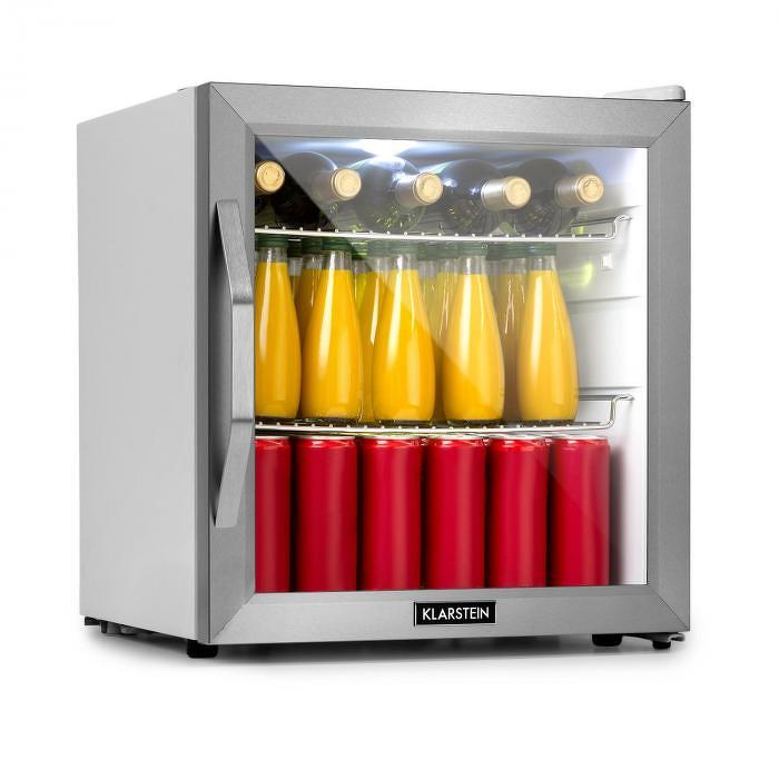 Klarstein Beersafe L Crystal White, chladnička A+, LED, 2 kovové rošty, sklenené dvere, biela