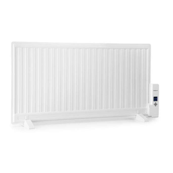 OneConcept Wallander, olejový radiátor, 1000 W, termostat, olejové vyhrievanie, plochý dizajn, biely