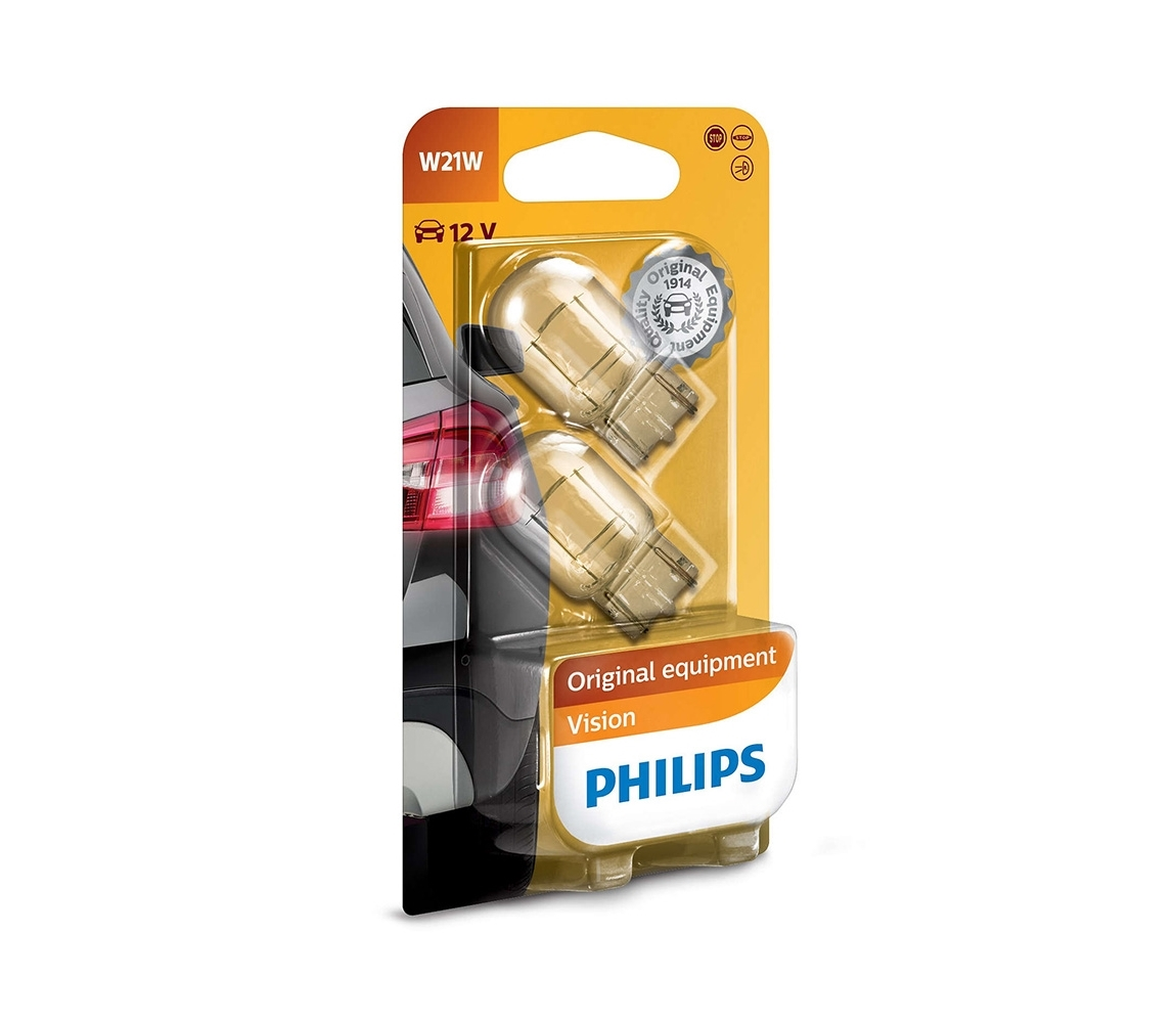 Philips SADA 2x Autožiarovka Philips VISION 12065B2 W21W W3x16d/21W/12V