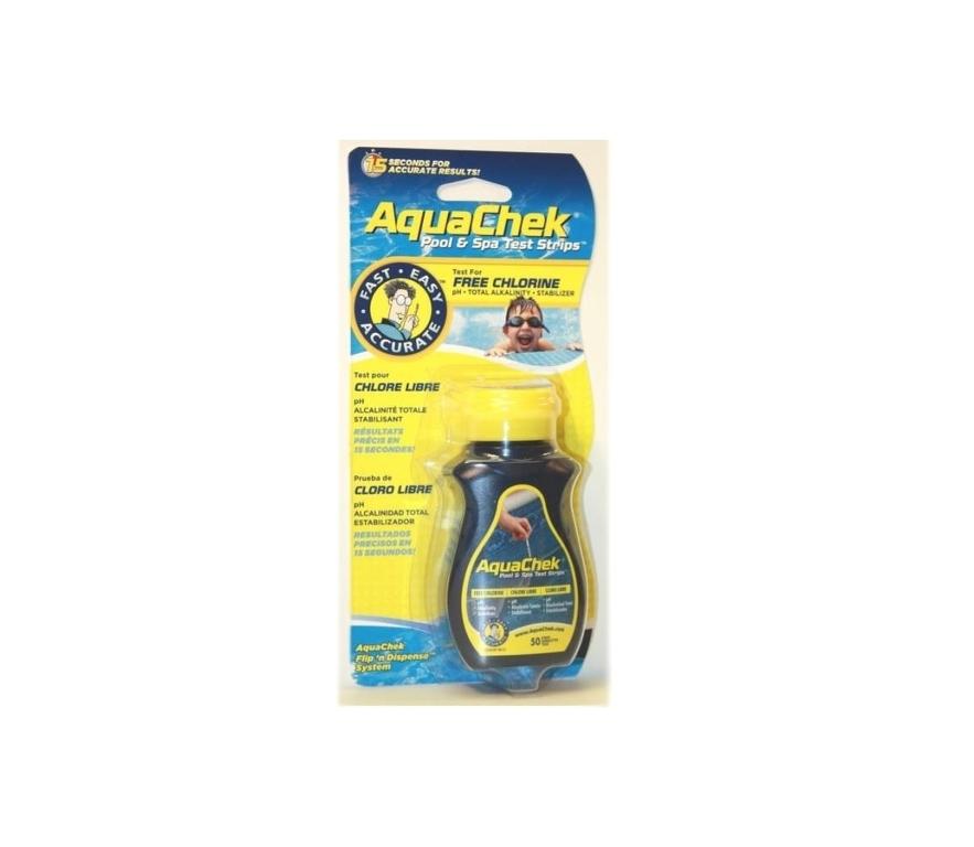 Testovacie pásky AquaChek 4v1 Yellow, 50 ks